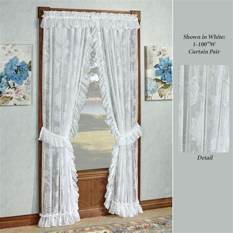 maison semi sheer lace ruffled priscilla curtains