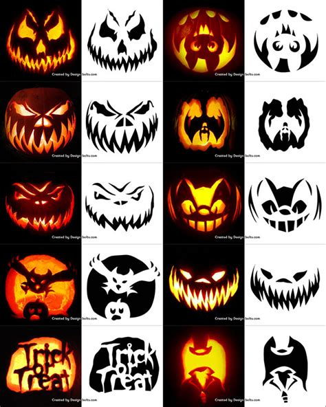 trick or treat pumpkin carving templates free 290 free printable halloween pumpkin carving stencils