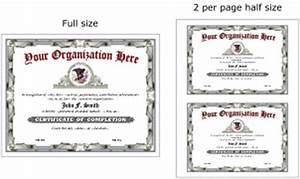 Certificate template half page images certificate design for Half page certificate template