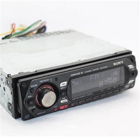 sony cdx gt300 car cd player 52w x 4 iso eq3 cd cdr rw