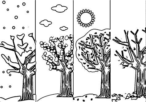 seasons coloring page wecoloringpage  kezimunka rajz