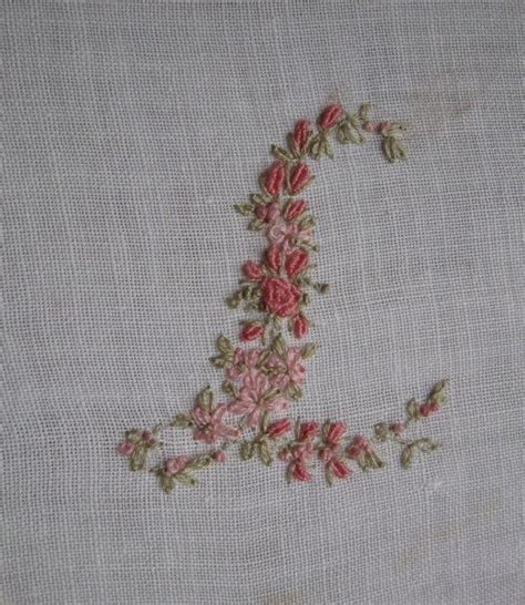 hand embroidery monogram letter   madame hollyhock monograms pinterest embroidery