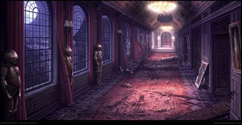 corridor  penemenn  deviantart anime scenery