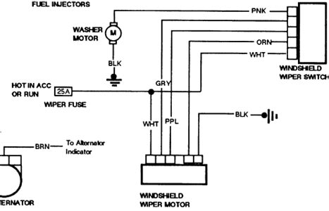 Solved After Wiring Diagram For The Wiper System