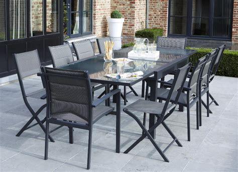 table chaises jardin salon de jardin modulo 1 table 4 fauteuils 4 chaise