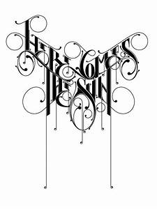 best 25 tattoo lettering styles ideas on pinterest With wrought iron letters script