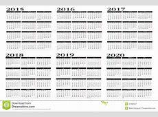 Kalender 2015 Bis 2020 Vektor Abbildung Bild 41082357