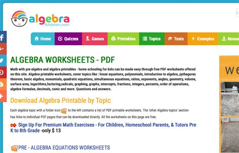 algebra worksheet section 10 5 factoring polynomials of
