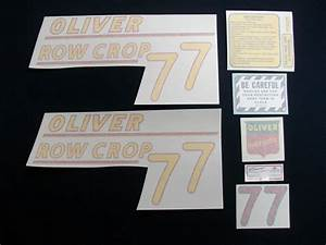 77 Row Crop Yellow    Vinyl Decal Set