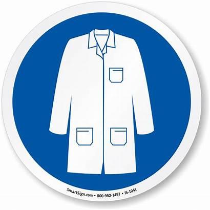 Coat Sign Wear Clipart Labcoat Iso Lab
