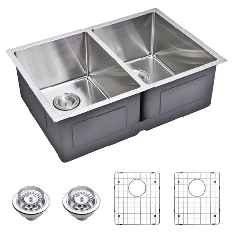 stainless steel kitchen sinks undermount water creation undermount small radius stainless steel 29 8279