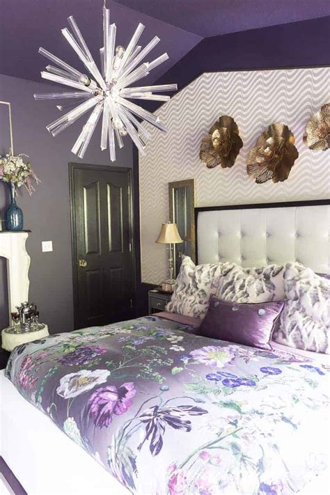 purple bedroom decorating ideas create  stunning master