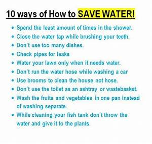 ways to conserve water essay