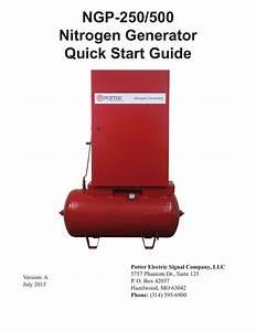 Ngp 500 Nitrogen Generator Quick Start Guide