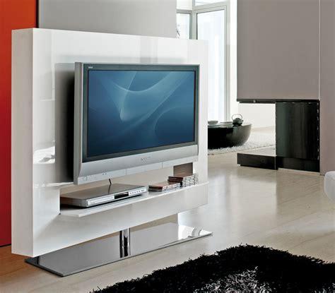 bureau laqué blanc design mobilier design meuble tv base pivotante chromée