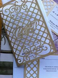 wedding invitation laser cut gate pattern with monogram With laser cut wedding invitations with initials