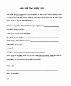 Sample consent letter for children travelling abroad with for Consent form template for children