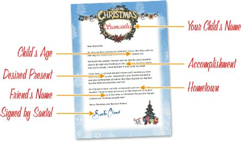 letters  santa  personalized printable