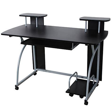 bureau informatique 120 cm songmics bureau informatique tablette clavier coulissante meuble de bureau pour ordinateur 120 x