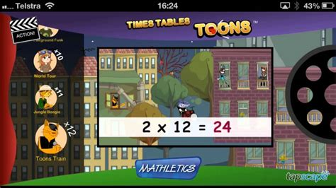 Times Tables Toons Iphone App Review  Youtube