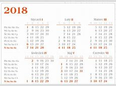 Kalendarz 2018 3 2018 Calendar printable for Free