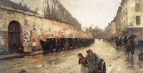 cab station rue bonaparte  childe hassam wikiartorg