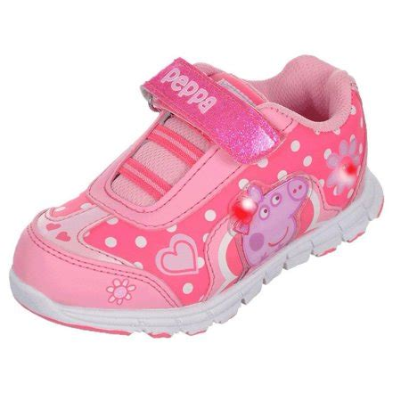 light up shoes size 4 peppa pig spotty light up pink velcro sneakers size