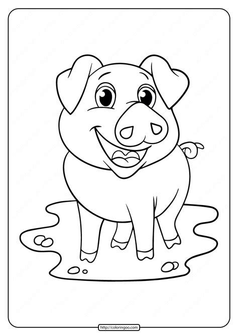 printable pig coloring pages   kids
