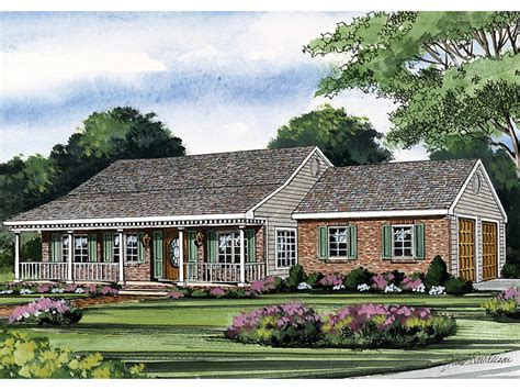 house plans with porches on front and back one story house plans with front and back porch decoto