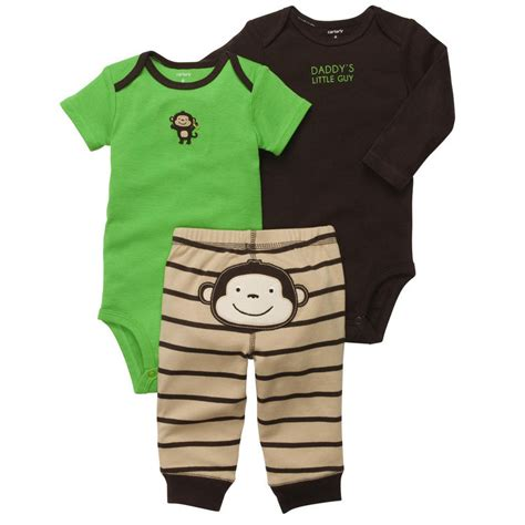 New NWT Carters Baby Boys 3 Piece Bodysuit Set Clothes 12 18 24 months Green | eBay