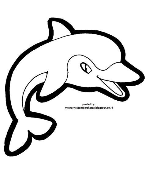 mewarnai gambar mewarnai gambar sketsa hewan ikan 3