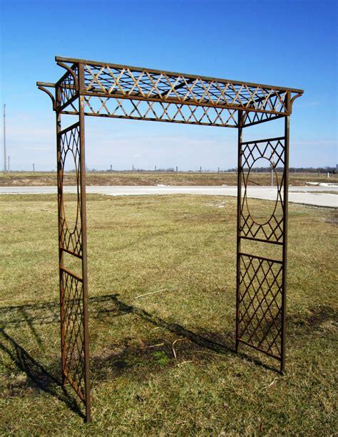 garden iron metal metal annabelle garden arbor rustic trellis