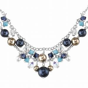 collier de perles en cristal swarovski elements With bijoux en cristal