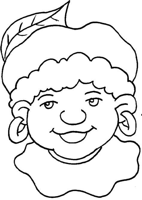 Kleurplaat Zwarte Piet Hoofd kleurplaten zwarte piet en sinterklaas sint en piet