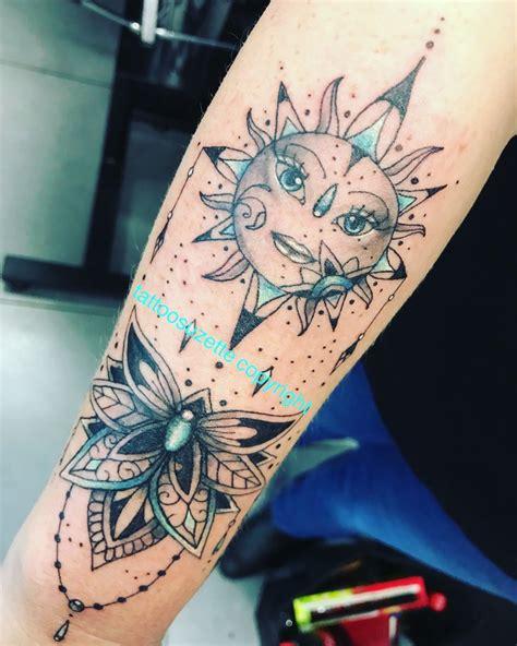 mandala sun tattoo ideas  pinterest sun