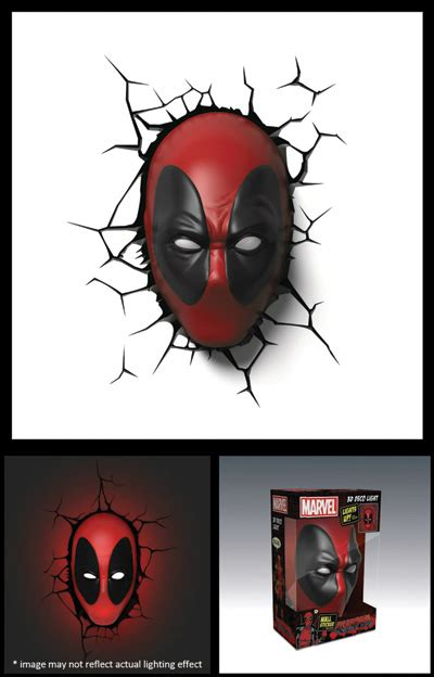deadpool mask 3d deco led wall light previews world