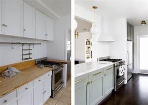 Sarah Sherman Samuel:kitchen before & after Sarah