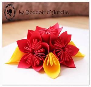 Origami Fleur Coeur D étoile : composition florale en papier fleurs d coratives en ~ Melissatoandfro.com Idées de Décoration