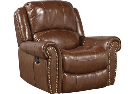 abruzzo brown leather glider recliner recliners brown