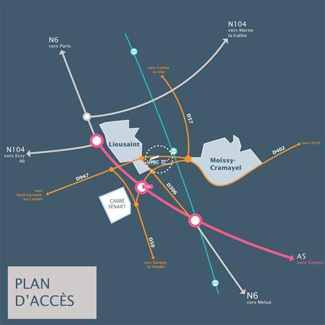 plan d 39 acces upec plans d 39 accès site de sénart