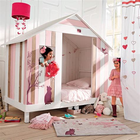 chambre fille maison du monde un lit cabane pour filles de chez maisons du monde