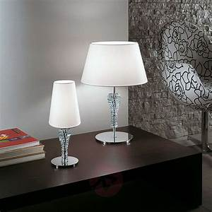 Small, Table, Lamp, Crystal, White