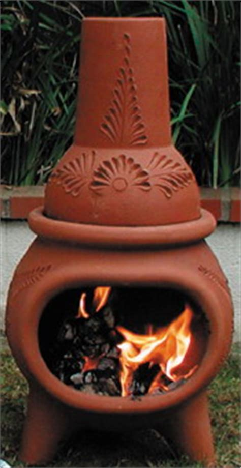 beautiful clay fireplace  mexican clay chiminea outdoor