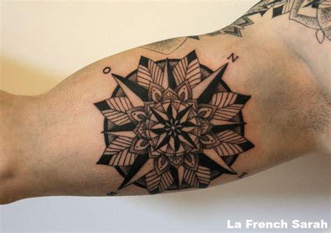 rose des vents mandala tatoo tatouage mandala homme