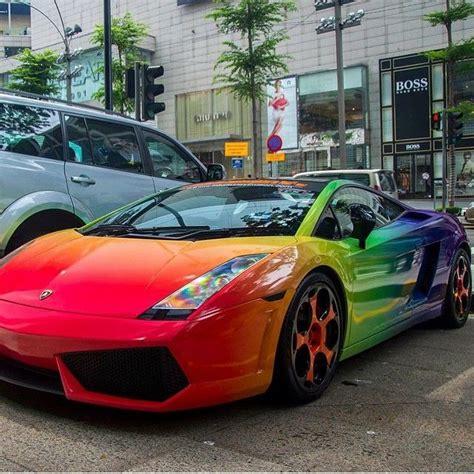 rainbow chrome lamborghini rainbow lambo lamborghini gallardo wrap carsgasm on ig