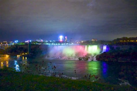 niagara falls ontario canada lights of the