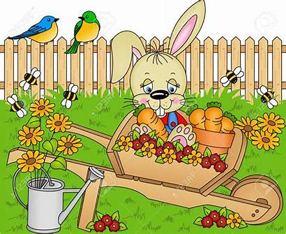 Garden Harvest Clipart Rabbit Carrots Vector Clipground