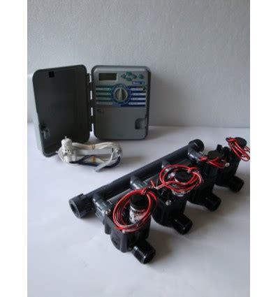 kit con 4 elettrovalvole programmatore xch sensore pioggia