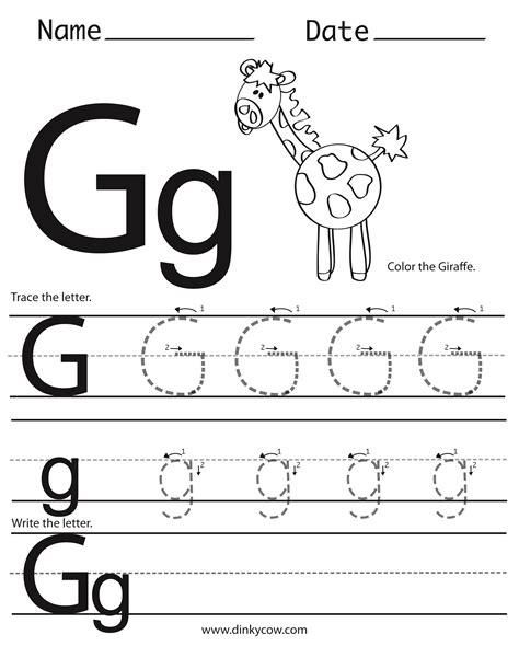 Letter G Worksheet Preschool Worksheets For All  Download And Share Worksheets  Free On