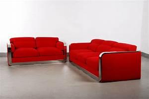 Couch Italienisches Design : italienisches vintage zwei sitzer drei sitzer sofa set von dada industrial design bei pamono ~ Frokenaadalensverden.com Haus und Dekorationen